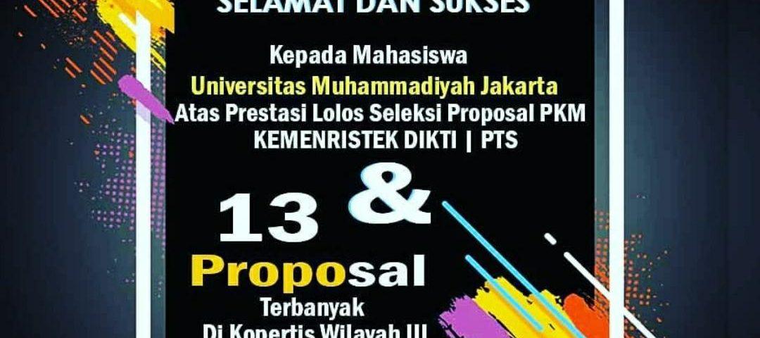Selamat 13 Proposal Pkm Umj Lolos Seleksi Dan Didanai Ristekdikti
